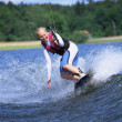 A young woman water skiing — Stock Photo #4754736