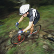 Man mountain biking — Stock Photo #4754840
