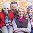 Grandparents and grandchildren on walk — Stock Photo