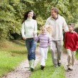 Stock Photo: Family on walk through countryside