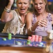 Two women gambling at roulette table — Stock Photo #4755255