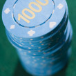 Stack of betting chips - Foto Stock