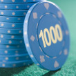 Stack of betting chips - Stock Photo