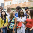 Group of college students on campus — Foto Stock