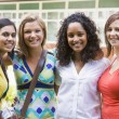 Stock Photo: Female college friends on campus