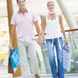 Couple shopping in mall — Stock Photo