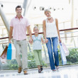 Family shopping in mall — Stock Photo #4757631