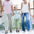 Stock Photo: Family shopping in mall
