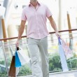 Man shopping in mall — Stock Photo