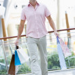 Man shopping in mall — Stock Photo #4757634