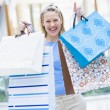 Woman shopping in mall — Stock Photo