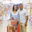 Couple shopping in supermarket — Stock Photo #4757716