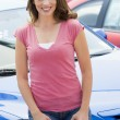 Woman choosing new car — Lizenzfreies Foto