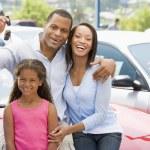 Aile araba yeni toplama — Stok fotoğraf