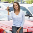 Woman picking new car — Stock Photo #4757809