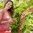 Woman shopping for produce in supermarket - Stock Photo