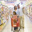 Young family grocery shopping — Stock Photo #4757840