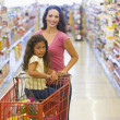 Mother and daughter grocery shopping — Stock Photo #4757848