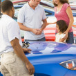 Stock Photo: Family choosing new car