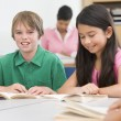 Group of elementary school pupils in classroom — Stock Photo #4757916