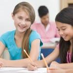 alunos do ensino fundamental em sala de aula — Fotografia Stock  #4757927