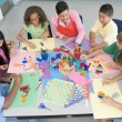 Elementary school art lesson — Stock Photo