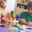 Elementary school art class — Stock Photo #4757960