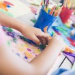 Detail of elementary school art class — Stock Photo #4757968