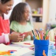 Elementary school art class — Stock Photo #4757971