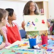 Elementary school pupil in art class — Stock Photo #4757979