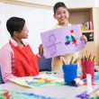 Elementary school art class — Stock Photo #4757981