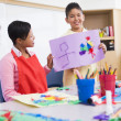 Stock Photo: Elementary school art class