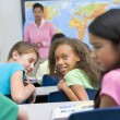 Pupil being bullied in elementary school — Stock Photo