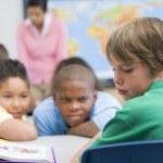Boy being bullied in elementary school — Stock Photo