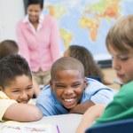 Bullying in elementary school — Stock Photo