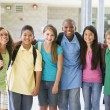 Elementary school class outside — Stock Photo #4758035