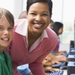 Elementary school computer class — Stock Photo #4758069