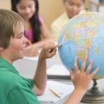 Elementary school geography class — Stock Photo #4758076