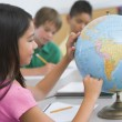 Elementary school geography class - Stock Photo