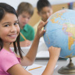 Elementary school geography class — Stock Photo