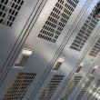 Stock Photo: Closed lockers in fire station