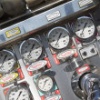 Royalty-Free Stock Photo: Gauges and dials on a fire engine