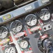 Stock Photo: Gauges and dials on fire engine