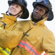 Stock Photo: Portrait of firefighters