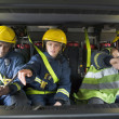 Firefighters on their way to an emergency scene — Stock Photo #4758330