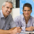 Classroom, High School, Student, Teacher, Hispanic, Smiling, Tee — Stock Photo #4759227