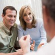 Couple in consultation at IVF clinic — Foto Stock