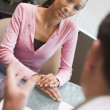 Royalty-Free Stock Photo: Woman having meeting with doctor in IVF clinic