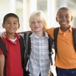 Three kindergarten boys standing together — Stock Photo #4759808