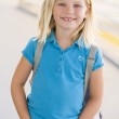 Portrait of kindergarten girl with backpack — Stock Photo #4759818